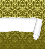 Seamless damask pattern with ripped copy-space royalty free stock images