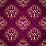 Seamless Damask Pattern. Royal Luxury Seamless Damask Pattern. Vector Illustration Stock Image