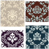 Seamless damask pattern set Stock Photo