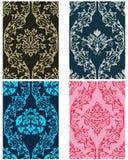 Seamless damask pattern set royalty free stock photo