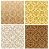 Seamless damask pattern set. Damask seamless vector pattern set.  For easy making seamless pattern just drag all group into swatches bar, and use it for filling Stock Photos