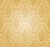 Seamless damask pattern (vector) stock illustration