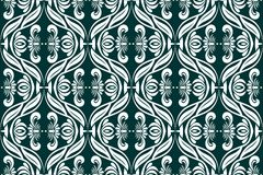 Seamless damask pattern in vector Stock Images