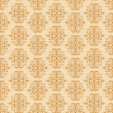 Seamless damask pattern. Vector illustration of seamless damask pattern Stock Photography