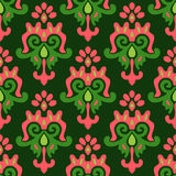 Seamless Damask Pattern Vector Tiles Stock Photos