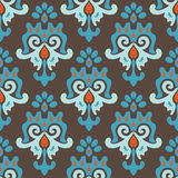 Seamless Damask Pattern Vector Tiles Royalty Free Stock Photo