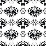 Seamless damask pattern. Vector seamless damask vintage pattern Stock Image