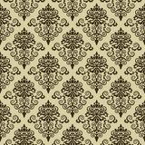 Seamless damask pattern wallpaper Stock Photo