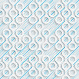 Seamless Damask Pattern. White and Blue Wrapping Background Stock Photography