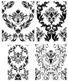 Seamless damask patterns set. Damask seamless vector backgrounds set.  For easy making seamless pattern just drag all group into swatches bar, and use it for Stock Photo