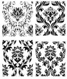 Seamless damask patterns set. Damask seamless vector patterns set.  For easy making seamless pattern just drag all group into swatches bar, and use it for Stock Photography