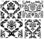 Seamless damask patterns set Stock Photos