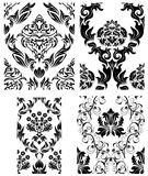 Seamless damask patterns set Stock Photography
