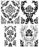 Seamless damask patterns set Stock Photography