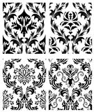 Seamless damask patterns set. Damask seamless vector patterns set.  For easy making seamless pattern just drag all group into swatches bar, and use it for Royalty Free Stock Photo