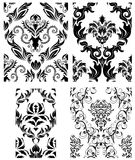 Seamless damask patterns set. Damask seamless vector backgrounds set.  For easy making seamless pattern just drag all group into swatches bar, and use it for Royalty Free Stock Photos