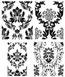 Seamless damask patterns set. Damask seamless vector patterns set.  For easy making seamless pattern just drag all group into swatches bar, and use it for Royalty Free Stock Photography