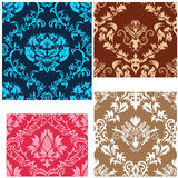 Seamless damask patterns set Stock Image