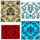 Seamless damask patterns set. Damask seamless vector backgrounds set.  For easy making seamless pattern just drag all group into swatches bar, and use it for Royalty Free Stock Photography