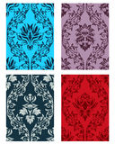 Seamless damask patterns set. Damask seamless vector patterns set. For easy making seamless pattern just drag all group into swatches bar, and use it for filling Stock Photo