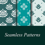Seamless damask patterns. Set of seamless damask patterns, wallpapers in the style of baroque Stock Images