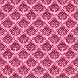 Seamless damask pink background Royalty Free Stock Photo