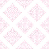 Seamless damask pink background Royalty Free Stock Image