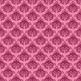 Seamless damask pink background Stock Photography