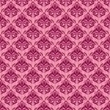 Seamless damask pink background. Seamless baroque damask luxury pink background stock illustration