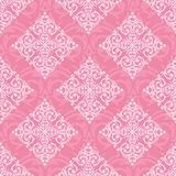 Seamless damask pink pattern royalty free illustration