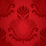 Seamless damask red element. Vector image of seamless damask ornament best for patterns backgrounds and wallpapers Royalty Free Stock Images