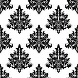 Seamless damask style floral Stock Photos