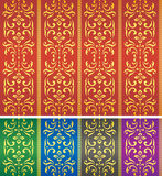 Seamless damask textile or wallpaper pattern Stock Image