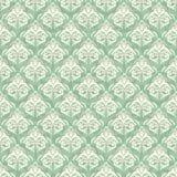 Seamless damask turquoise background Stock Image
