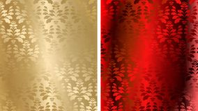 Seamless damask vector Royalty Free Stock Image