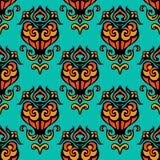 Seamless   damask vector design Royalty Free Stock Photos