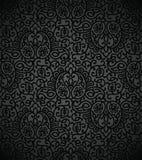 Seamless damask vector wallpaper Stock Image