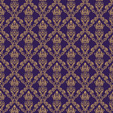Seamless Damask Wallpaper 1 Purple Color Royalty Free Stock Images