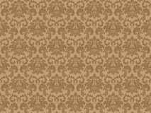Seamless Damask wallpaper Stock Images