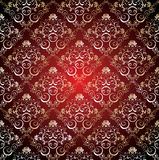 Seamless damask wallpaper Stock Image