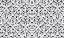 Seamless damask wallpaper Stock Images