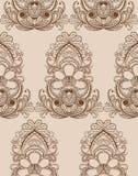 Seamless damask wallpaper Royalty Free Stock Photos