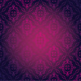 Seamless Damask Wallpaper. Vector Illustration of Seamless Pink Damask Wallpaper Stock Images