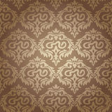 Seamless damask wallpaper Stock Photo
