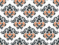 Seamless damask wallpaper Royalty Free Stock Photo