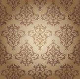 Seamless damask wallpaper Royalty Free Stock Images