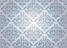 Seamless damask wallpaper Stock Image