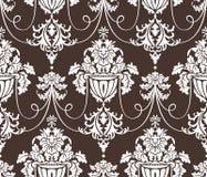 Seamless damask wallpaper Stock Photo