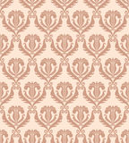 Seamless damask wallpaper. Vector illustration Royalty Free Stock Photography