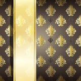 seamless damask wallpaper Stock Photography